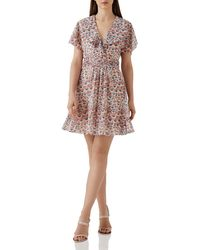 Reiss - Aime Floral Print Dress - Lyst