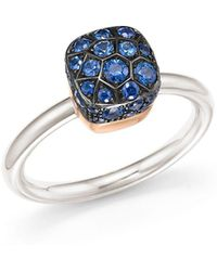 Pomellato - Nudo Ring With Sapphire In 18k White And Rose Gold - Lyst