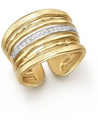 Meira T - 14k Yellow Gold Multi-band Open Ring With Diamonds - Lyst