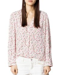 Zadig & Voltaire - Tink Floral Tunic - Lyst