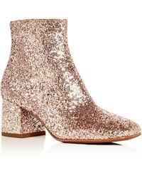 Ash - Women's Electra Glitter Block Heel Booties - Lyst