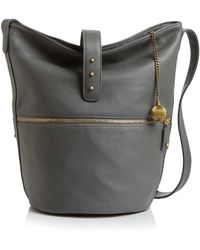 SJP by Sarah Jessica Parker - Traveller Leather Bucket Bag - Lyst