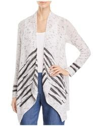 NIC+ZOE - Dash Open-front Stripe-panel Cardigan - Lyst