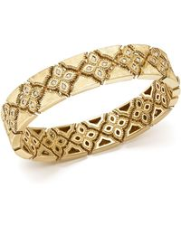 Roberto Coin - 18k Yellow Gold Venetian Princess Diamond Bangle - Lyst