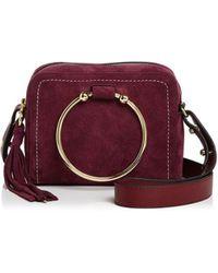 MILLY Astor Suede Camera Bag
