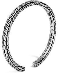 John Hardy - Sterling Silver Classic Chain Slim Cuff - Lyst
