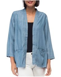B Collection By Bobeau - Hilary Chambray Open Jacket - Lyst