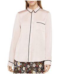 BCBGeneration - Piped Satin Pyjama Shirt - Lyst