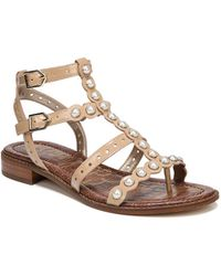 943925b7d458bb Lyst - Sam Edelman Grella Metal Thong Sandals in Metallic