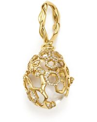 Temple St. Clair - 18k Yellow Gold Beehive Rock Crystal Amulet Pendant With Diamonds - Lyst