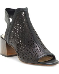Vince Camuto - Women's Sternat Laser-cut Stacked Heel Sandals - Lyst