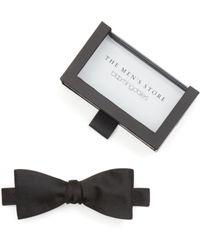 Bloomingdale's - Solid Satin Self-tie Bow Tie - Lyst