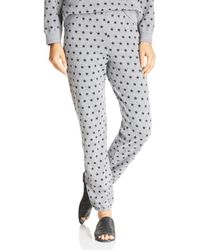 Monrow - Star Print Sweatpants - Lyst