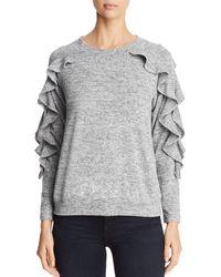 Avec - Ruffle Sleeve Sweater - Lyst
