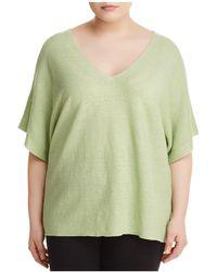 Eileen Fisher - Organic Linen Deep V-neck Sweater - Lyst
