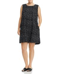 Eileen Fisher - Organic Cotton Dot - Print Shift Dress - Lyst