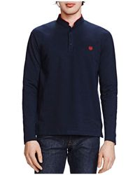 The Kooples - New Shiny Piqué Long Sleeve Classic Fit Polo - Lyst