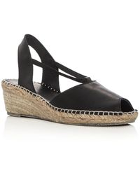 Andre Assous - Women's Dainty Leather Slingback Espadrille Sandals - Lyst