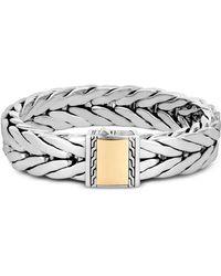 John Hardy - Sterling Silver & 18k Bonded Yellow Gold Modern Chain Large Bracelet - Lyst