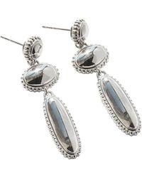 Shinola - Sterling Silver Coin Edge Drop Earrings - Lyst