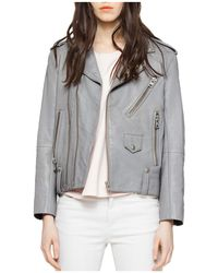 Zadig & Voltaire - Liya Leather Moto Jacket - Lyst