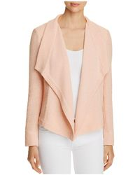 Donna Karan - New York Textured Drape-front Jacket - Lyst