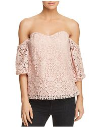 Bailey 44 - Dream Come True Off-the-shoulder Lace Top - Lyst