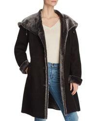 Maximilian - Lamb Shearling Button Coat - Lyst