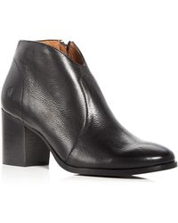Frye - Women's Nora Leather Block Heel Booties - Lyst