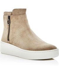 Via Spiga - Women's Easton Suede Platform High Top Sneakers - Lyst