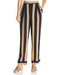 Band Of Gypsies - Lauren Striped Wide-leg Trousers - Lyst
