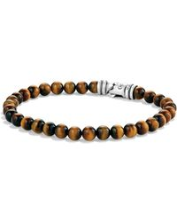 David Yurman - Spiritual Beads Bracelet With Tiger's Eye - Lyst