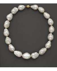"Bloomingdale's - Baroque Freshwater Pearl Necklace In 14k Yellow Gold, 17"" - Lyst"