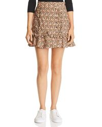 The East Order - Alix Ruffled Paisley A-line Mini Skirt - Lyst