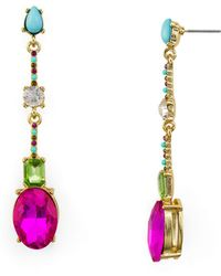 R.j. Graziano - Multicolor Faceted Linear Drop Earrings - Lyst