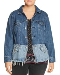 Lucky Brand - Shrunken Two-tone Denim Jacket - Lyst