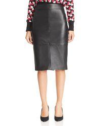 BOSS - Selrita Leather Pencil Skirt - Lyst