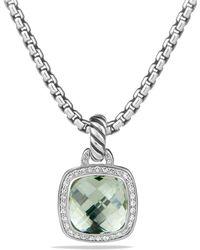 David Yurman - Albion Pendant With Prasiolite And Diamonds - Lyst