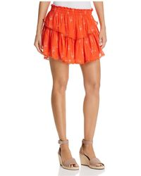 Karina Grimaldi - Habi Tiered Printed Mini Skirt - Lyst