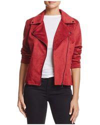 Bagatelle - Faux Suede Moto Jacket - Lyst