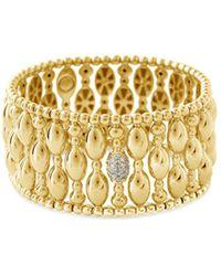 Hulchi Belluni | 18k Yellow Gold Tresore Diamond Banded Stretch Bracelet | Lyst