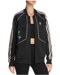 Adidas Originals | Embroidered Striped Track Jacket | Lyst