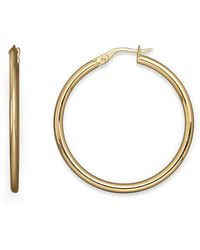 Roberto Coin | 18k Yellow Gold Round Hoop Earrings | Lyst