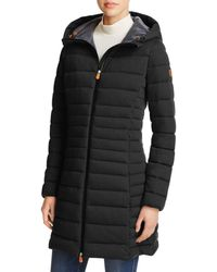Save The Duck - Angy Long Puffer Coat - Lyst