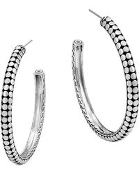 John Hardy - Sterling Silver Dot Small Hoop Earrings - Lyst