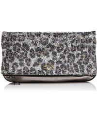 Zadig & Voltaire - Leopard Print Glitter Leather Clutch - Lyst
