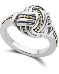 Lagos - 18k Gold & Sterling Silver Torsade Small Round Ring - Lyst