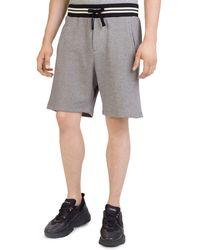 The Kooples - Striped-waist Fleece Shorts - Lyst