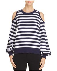 MICHAEL Michael Kors | Cold-shoulder Stripe Sweater | Lyst