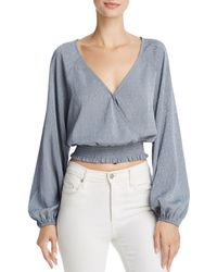 June & Hudson - Cropped Wrap Top - Lyst